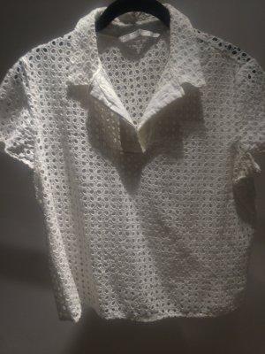 Bluse mit Lochmuster