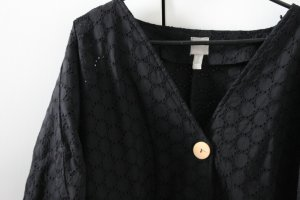 Asos Oversized Blouse black-dark blue cotton