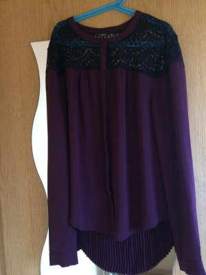 Bluse mit Materialmix
