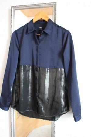 Bluse mit Metallic-Element