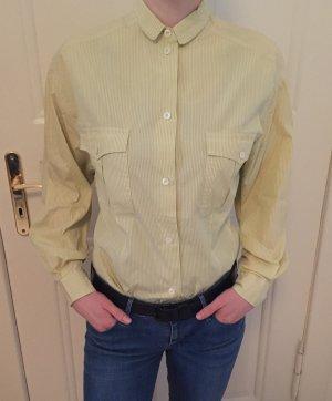 Bluse mit mustard Streifen Hemd