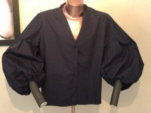 Wendy Trendy Blouse à manches longues bleu foncé coton