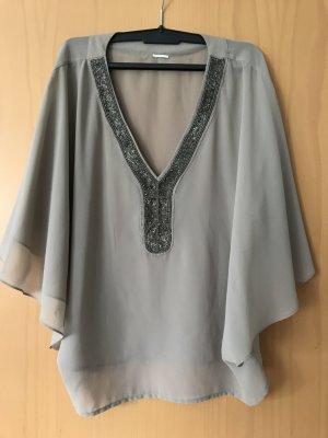 Bluse mit Pailletten in Größe M