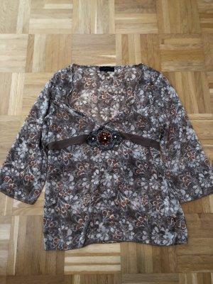 Bluse, mit Pailletten und Gürtel, Vero Moda, Gr. XL,