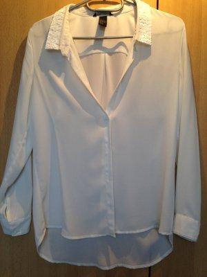 Bluse mit Paillettenkragen
