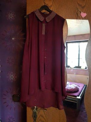 Atmosphere Camisa de mujer burdeos