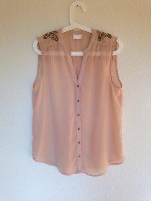 Bluse mit Perlen-Bestickung von Vila