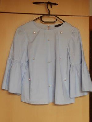 Zara Camicetta a blusa azzurro-bianco