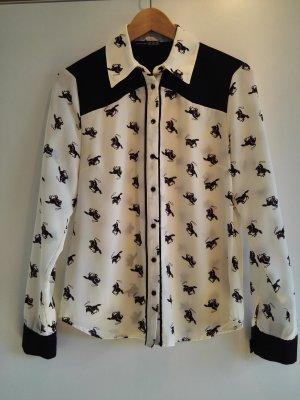 Bluse mit Pferde Print