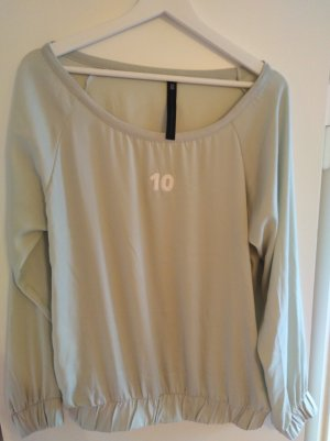 10 Days Long Sleeve Blouse sage green-mint polyester