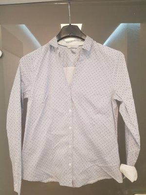 H&M Cuello de blusa azul pálido-azul oscuro