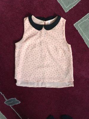 FB Sister Colletto camicia nero-rosa pallido