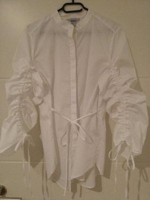 Bluse mit Raffung / Designbluse / extravagante Bluse