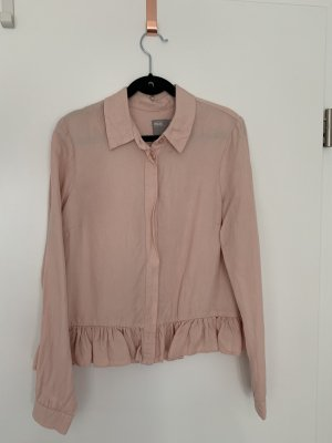 Bluse mit Rüsche in Rosé/Nude