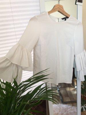 Vero Moda Ruffled Blouse natural white