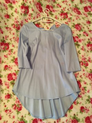 SusyMix Glanzende blouse azuur
