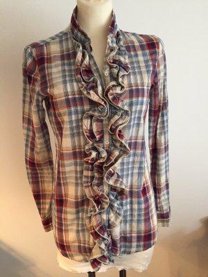 Bluse mit Rüschen an Knopfleiste von AGLINI