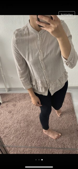 Zara Blouse Collar beige-white