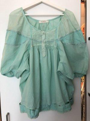 Oversized blouse turkoois