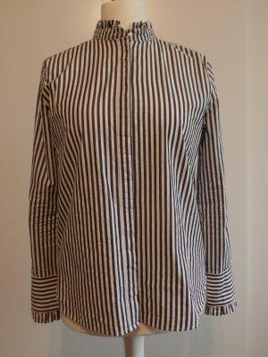 Bluse mit Rüschen und Stehkragen, H&M, Gr. 40