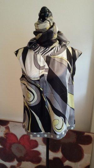 Bluse mit Schal von Luisa Cerano aus Seide mit Baumwolle