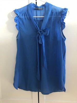 Atmosphere Blusa trasparente azzurro