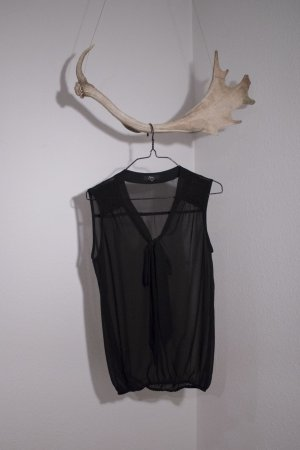 Ann Christine Mouwloze blouse zwart