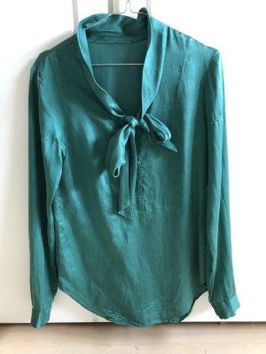 0039 Italy Zijden blouse cadet blauw