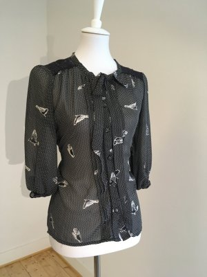 Bluse mit Schleife und Bindegürtel