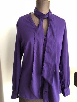 Bluse mit Schleife von Manguun Gr 42 L , lila