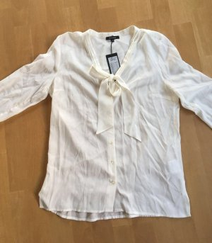 More & More Tie-neck Blouse natural white