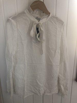 More & More Blusa collo a cravatta bianco sporco