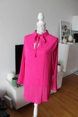 Bluse mit Schluppe / Schluppenbluse pink Gr. 42 wie neu