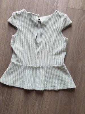 Bluse mit Schößchen, Gr.34, mintgrün, Asos