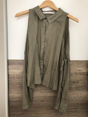 Bluse mit Schulter Cut-outs und Bindedetails