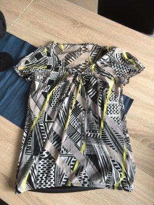 Bluse mit schwarzen Top bunt