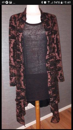 H&M Abito blusa nero-rosso scuro