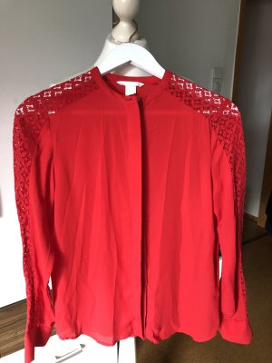 H&M Lace Blouse red
