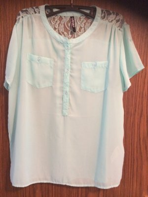 Takko Lace Blouse turquoise