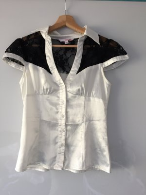 Tally Weijl Blouse brillante blanc-noir