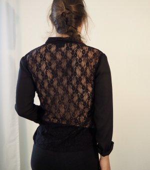 Bluse mit Spitze am Rücken