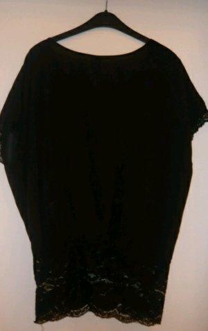 Bluse mit Spitze schwarz