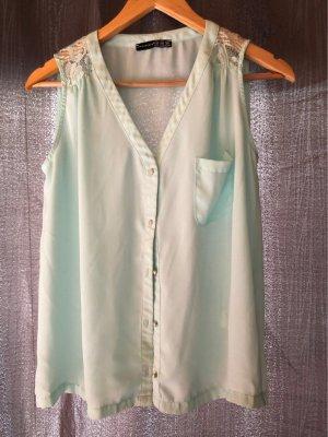 Bluse mit Spitzen-schultern