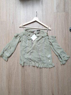 Bluse mit Spitzen und Stickereien von Fracomina S M 36 38