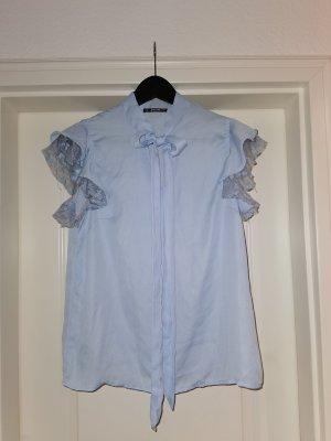 Sheinside Lace Blouse light blue