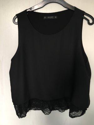 Bluse mit Spitzendetails von Zara