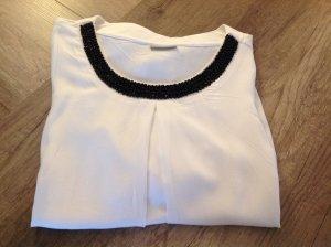 Laura Torelli Slip-over blouse wit-zwart Viscose