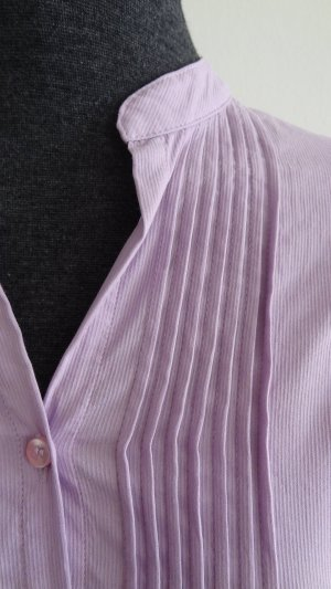 Zero Blusa de cuello alto malva Algodón