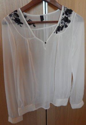 Bluse mit Stickerei und Pailletten -Vero Moda