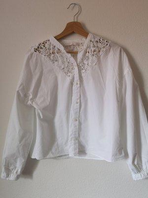 Bluse mit Stickerei von Zara